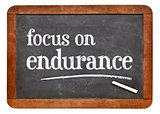 Focus on endurance advice on blackboard