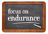 Focus on endurance advice on blackboard