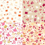 Seamless roses patterns