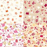 Seamless roses patterns