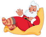 Santa Claus on the Bean Bag