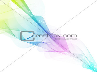 Abstract Multicolored Fume