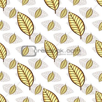 Autumn seamless white floral pattern