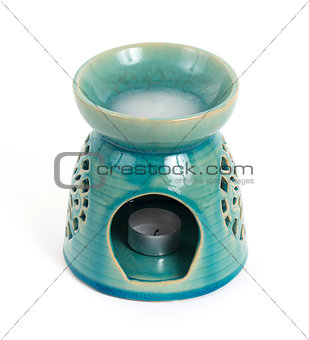 Candle in oil burner
