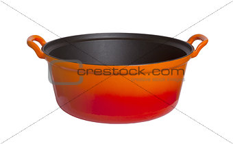 Old cooking pot isolated