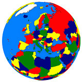 Europe on Earth political map