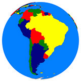 south America on Earth political map