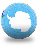 Antarctic on the globe