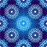 Seamless dark blue vintage christmas pattern