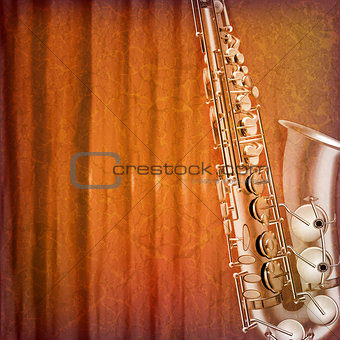 abstract grunge music background vector illustration