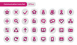 Communications icons set