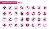 Communications icons set