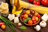 Pasta, vegetables, spices
