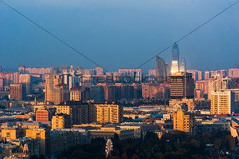 City view of the capital in Baku, Azerbaijan