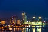 Night view of the Baku city