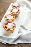 Mince pies on the plate