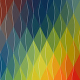Abstract geometric vector background. Illustration for web design, prints etc.   Divided rhombus modern multicolor  pattern.