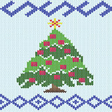 Christmas tree with knitting ornate details