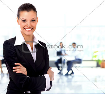Smiling business woman on the