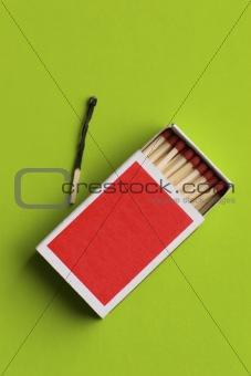 blank matchbox open