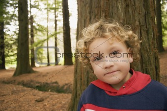 Boy in the woods 02