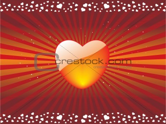 abstract vector heart background