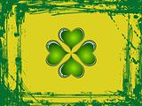 Abstract Clovers with Grunge Background Vector Illustration