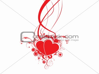 floral heart with curve elements