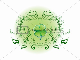 Four Leaf Clover Decorative Environment