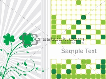 Abstract Clovers Vector Illustration