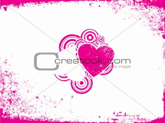 Grunge love - vector picture