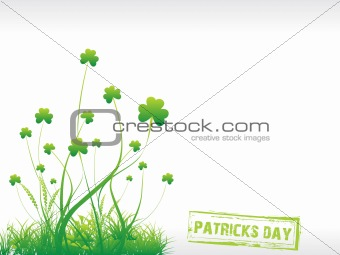 Green Shamrock background with grasses