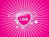 pink background with vector heart