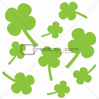 Green Shamrocks with white background