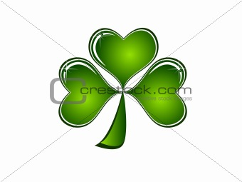 Abstract Sparkling Clovers Vector Illustration