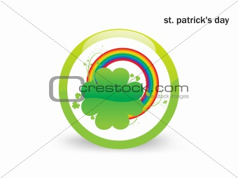 Abtract Background with Clovers Vector Illustration