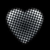 black pattern heart