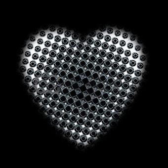 black pattern heart