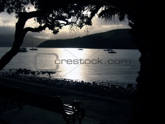 Akaroa at night, New Zealand