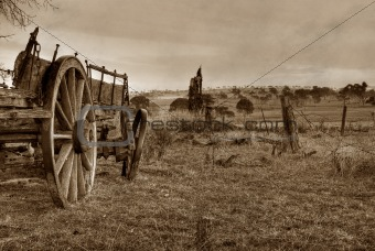 old photo of a wagon