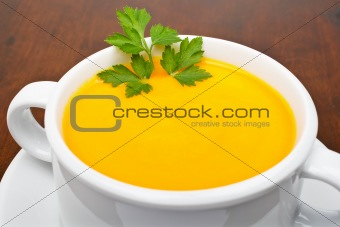 Carrots puree with parsley