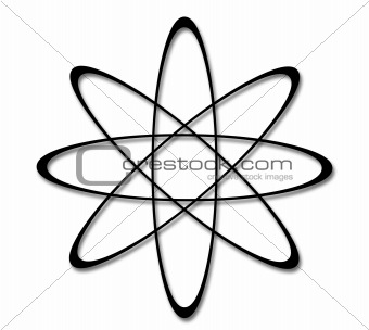 A Series of illustrations of the Atom Symbol