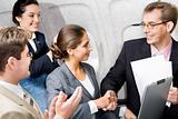 Handshake in the plane