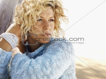 Pretty young blond woman