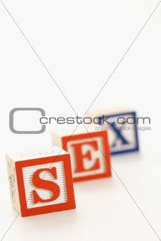 Toy alphabet blocks.