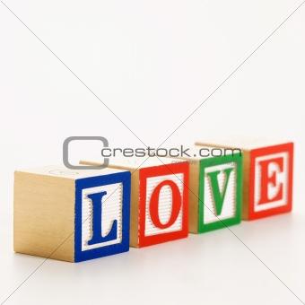 Toy building blocks.