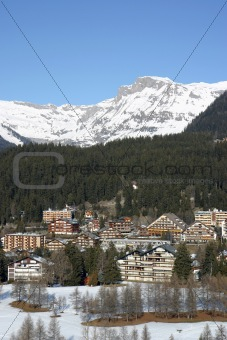 Alpine ski resort
