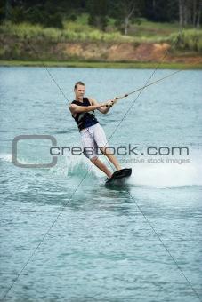 Teen wakeboarder.