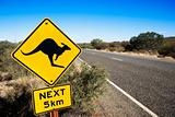 Road sign Australia