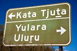 Road sign Kata Tjuta